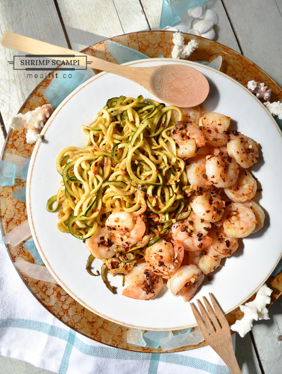 20 Minute Lean Shrimp Scampi